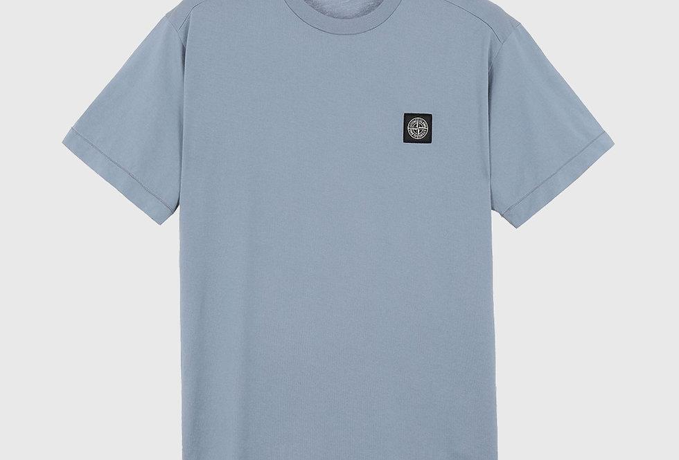 Stone Island 24113 Patch Logo T-shirt Pastel Blue