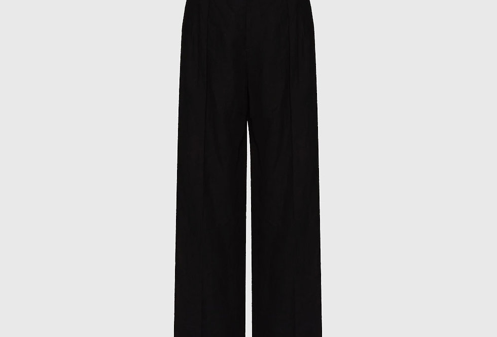Valentino Darted Trousers Paper Yarn Canvas Black