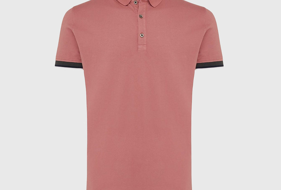 Genti Pique Stretch Polo Old Pink