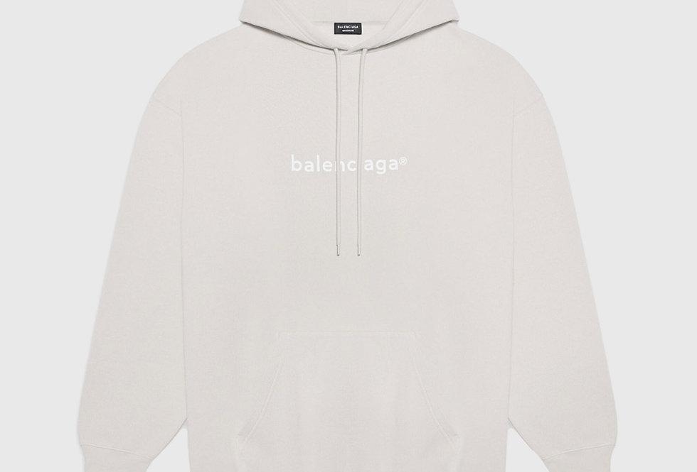 Balenciaga New Copyright Medium Fit Hoodie Cement Grey White