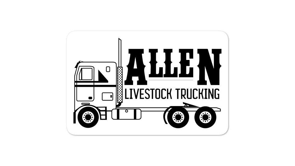 """""""allen trucking"""" Bubble-free stickers"""