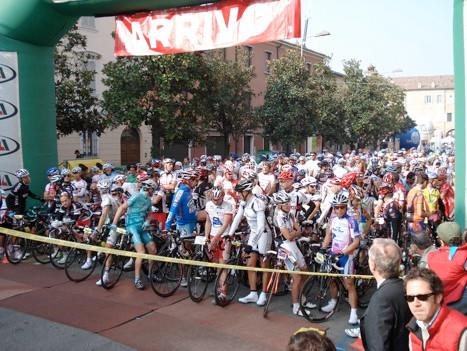 На старте велогонки