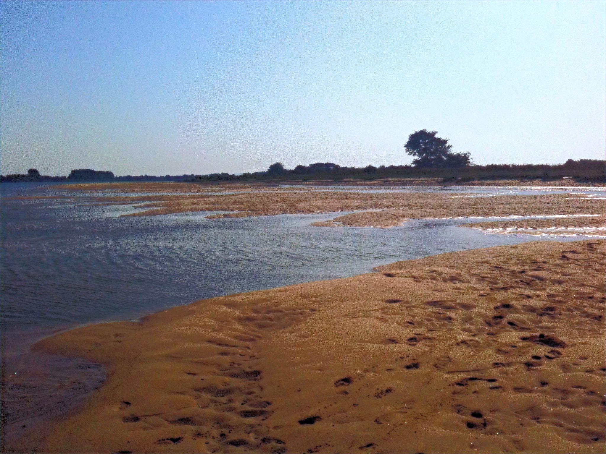 Praia no rio Tejo