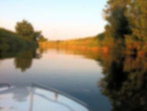 Por do sol no rio Tejo