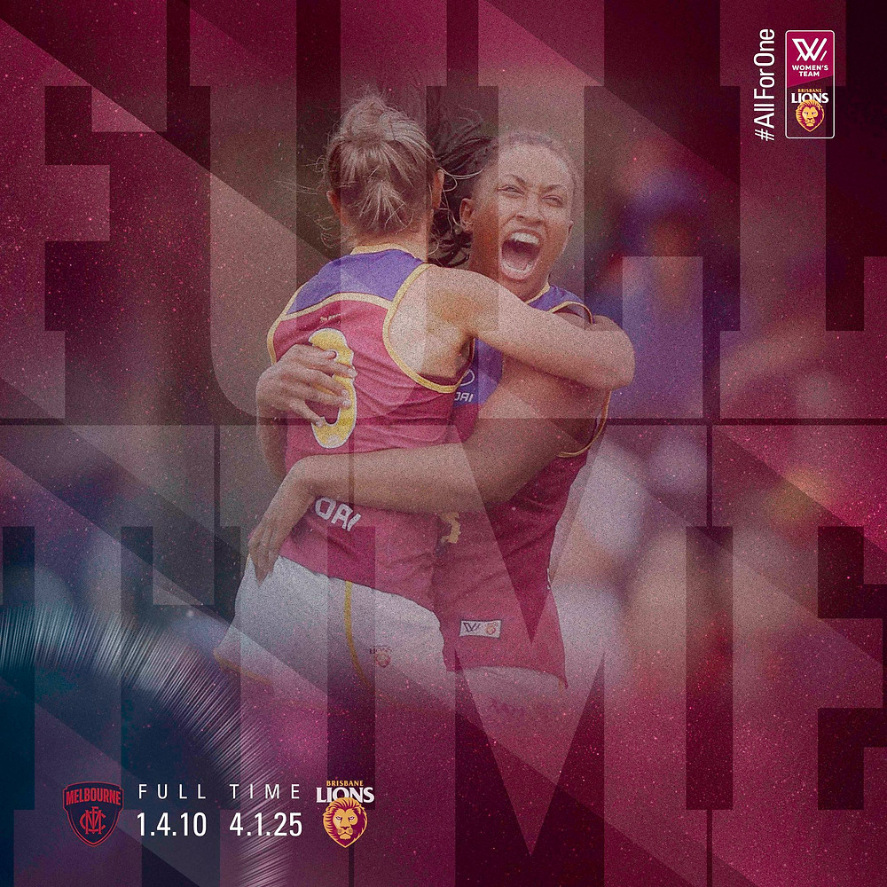 Full Time and Brisbane have their first win in the AFLW