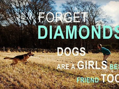 Forget Diamonds, Dogs are a girls' best friend too!