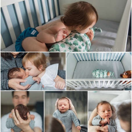 Newborn : Langley Newborn Photography Session with toddler