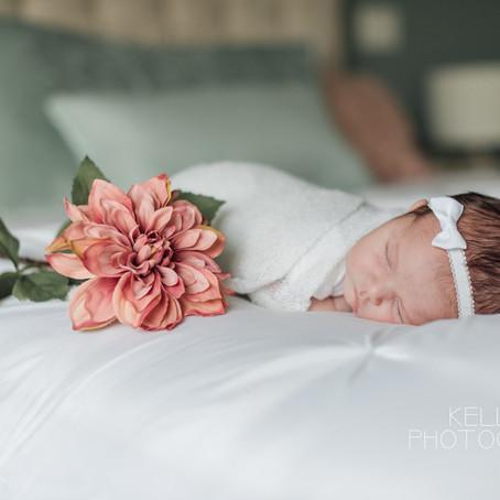 Newborn: Christmas Eve newborn lifestyle session in Surrey