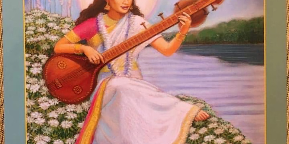 Goddess Saraswati Circle