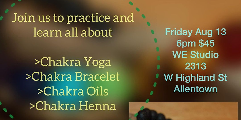 Chakra Yoga, Bracelet and Henna