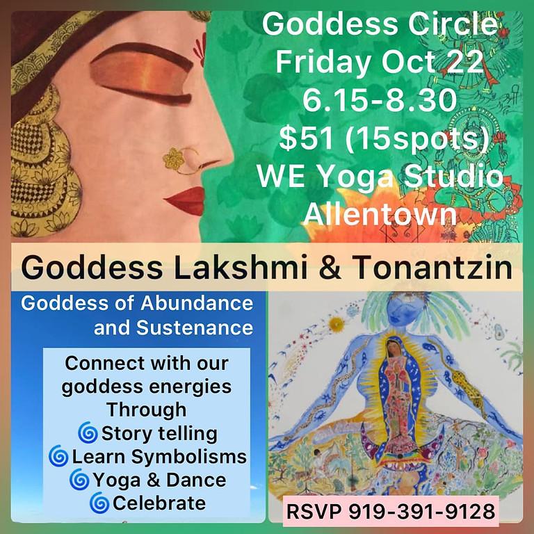 Goddess Circle (Goddess Lakshmi and Tonantzin)