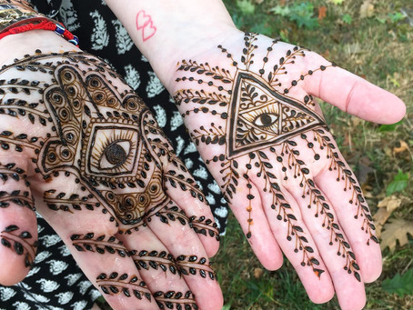 Coping with Covid through Henna Art and Yoga