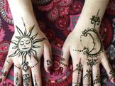 sun and moon henna