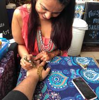 Henna in action