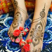Bridal Feet henna