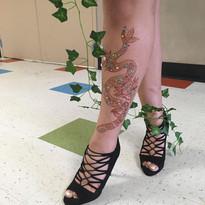 Leg - Snake henna