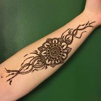 Henna on arm