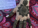 Intricate henna