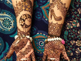 Symbolic bridal henna