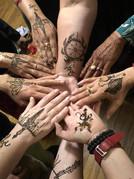 Durga's Weapons/Shakti in Henna