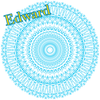 Basic mandala created from my name