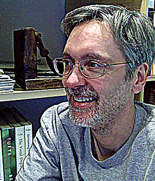 Ed Hart, of Grafhartwerx LLC, in his studio