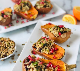 Stuffed Butternut or Honeynut Squash                   with Wild Rice Blend