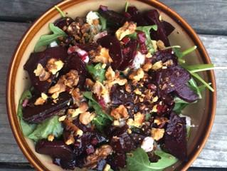 Roasted Beet Arugula Salad