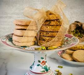 Anise Cardamom Shortbread Cookies with Lakanto Monk Fruit Sweetener