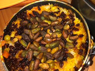 Happy Nowruz! Persian New Year Recipes from Aria (Part 2 of 3): Saffron Vegetable Rice w/Tahdig