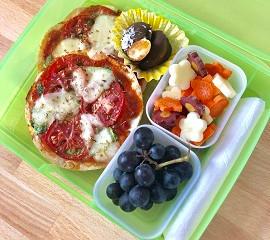 Pita Pizza School Lunch