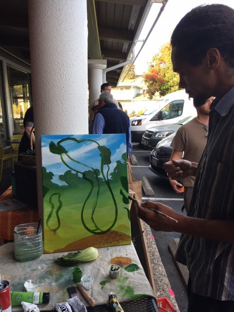 Live Painting/Tribute to Bok Choy