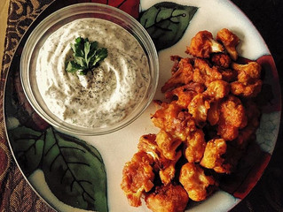 January Recipe: Spicy Cauliflower Wings