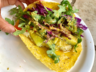 Sprouted Mung Bean Hummus Wrap