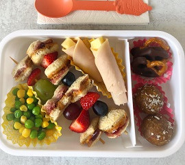 Sweet & Nutty Mega Bites and PB&J Kabobs for School Lunch
