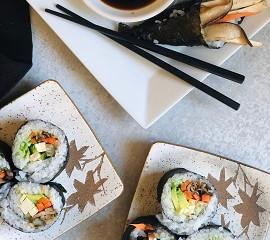 Vegan Sushi Rolls by Brisia@bridgingpalates