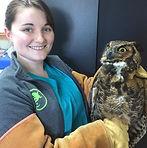 Savannah and an Owl.jpeg