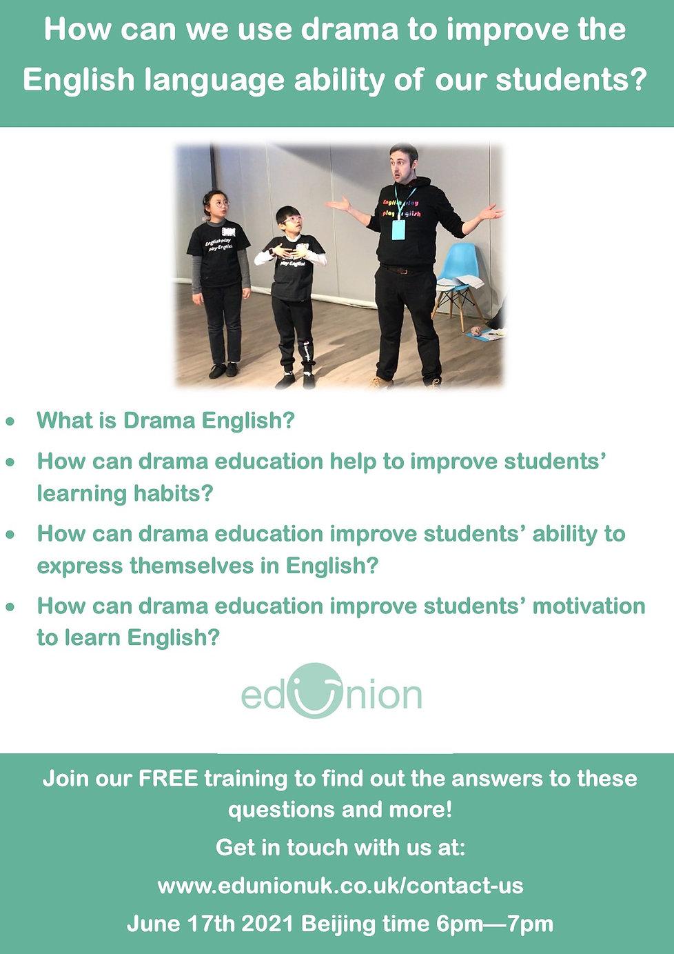 Online training session 1 advert English