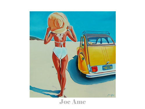 "Poster 70x50cm  ""Deuche on the beach..."""