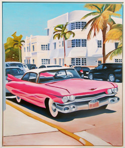 HST 100x120 Pink Cadillac 59..