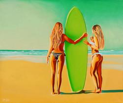 HST 120x100 Surf girls, Baradal... #180224