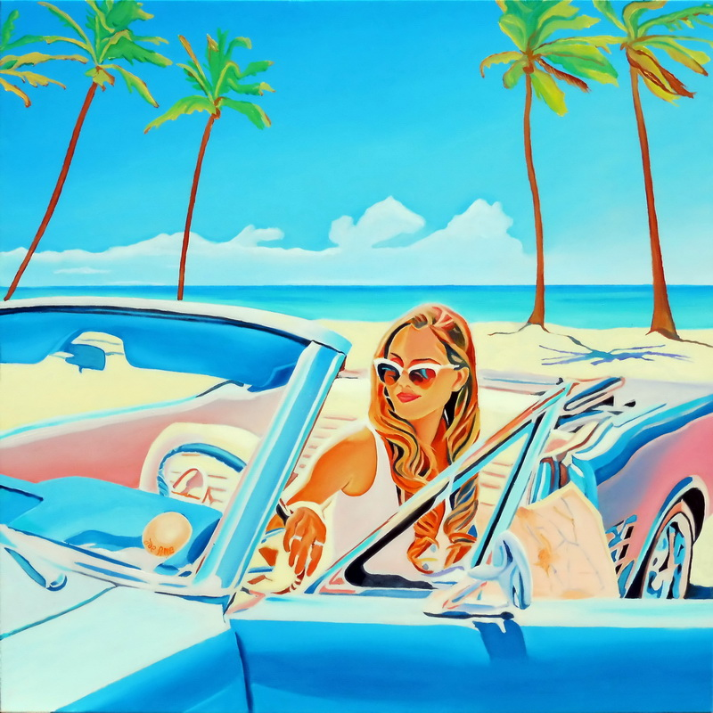 HST 100x100 Kate Carmen, road to Key West...#180618