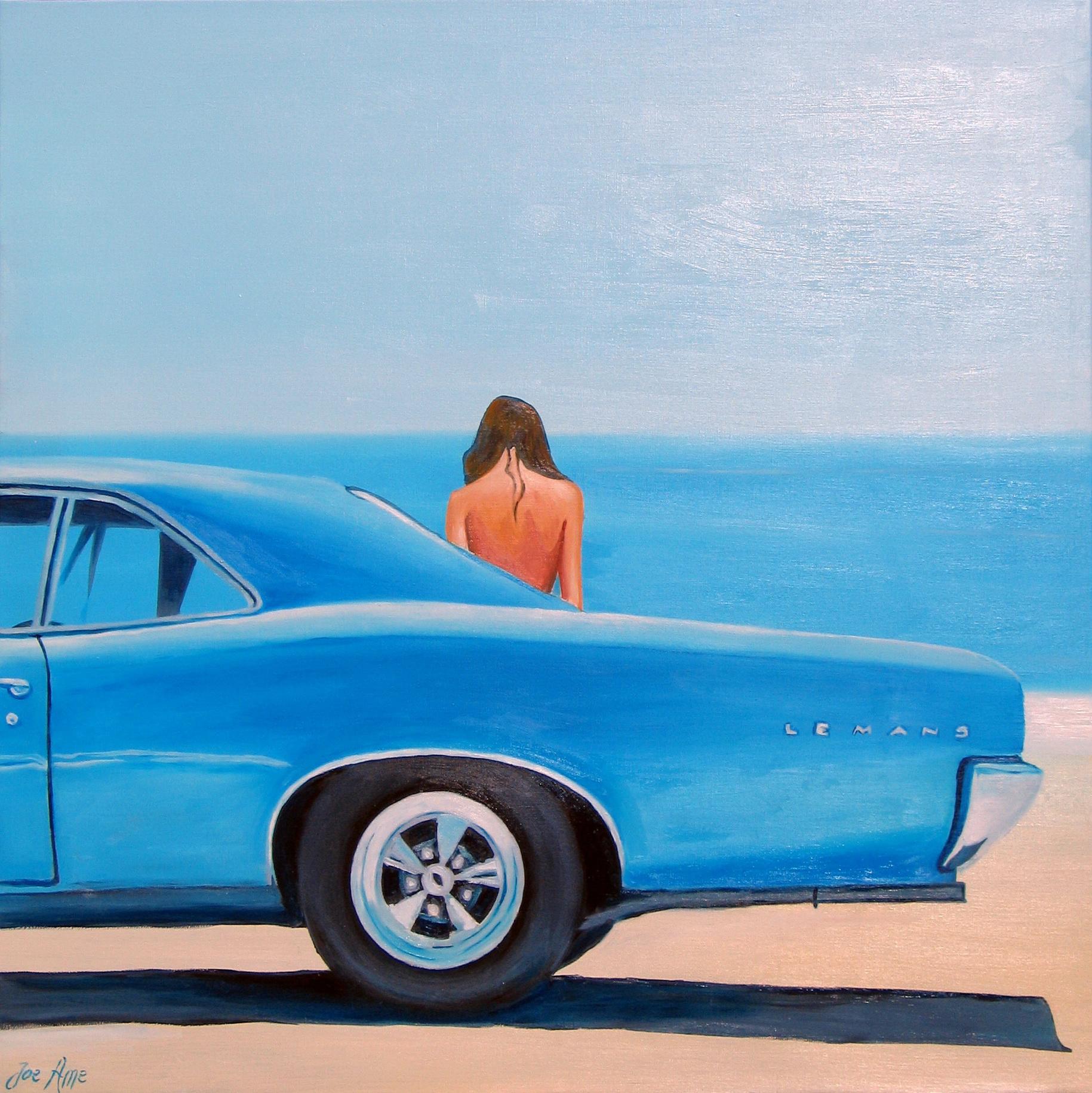 HST 100x100, Sortant de sa Pontiac 1966, Kate Carmen s'en va vers la plage de Santa Monica...