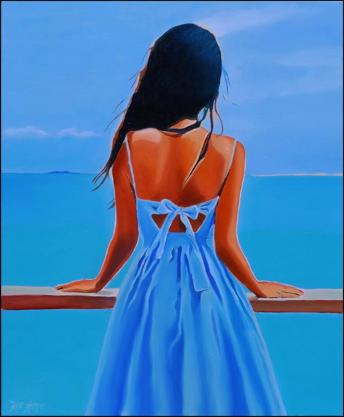 HST 54x61 La robe bleue...