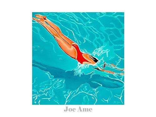 "Poster 70x50cm  ""Swimmin' pool..."""