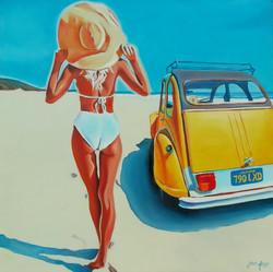 Deuche on the beach...