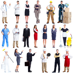 Workers people set isolated over white background..jpg
