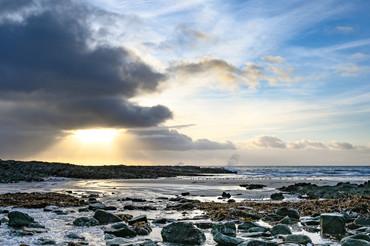 Talland Bay water sprays - Panorama