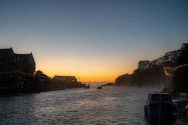 Day boat at dawn