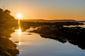 Sunrise over Looe Coastgaurd station